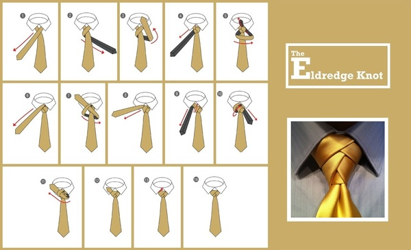 Knot tie for wedding