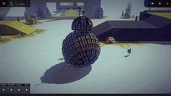 Осада BB-8.. star wars, BB-8, гифка, м:, Besiege, игры