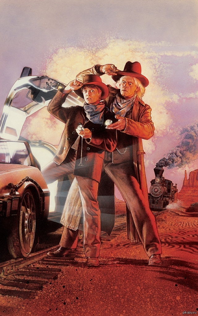Back to the future 3 movie poster