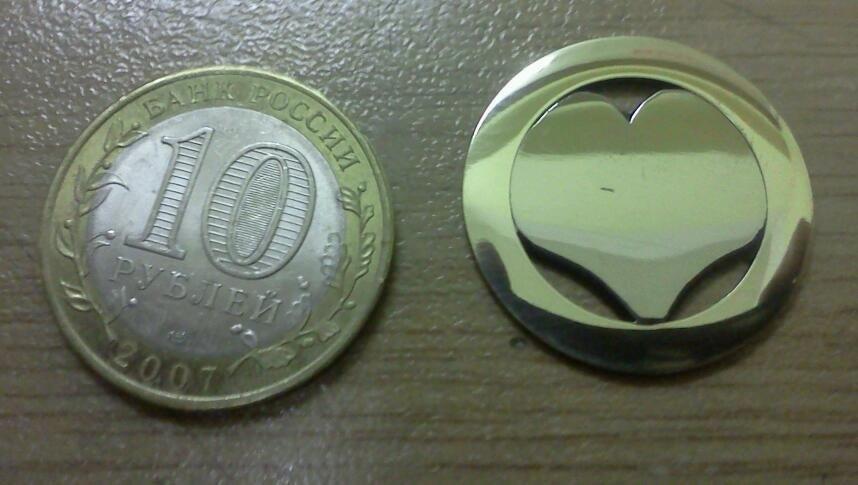 Как сделать из монеты медальон фото 834