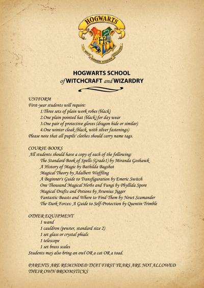 Как сделать письмо из хогвартса