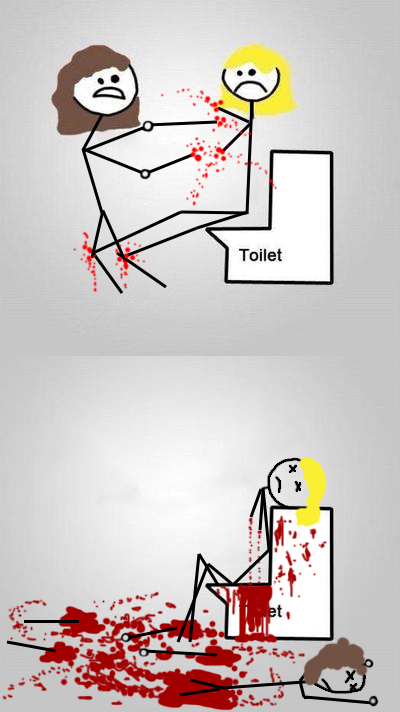 Дамочка зашла в туалет покакать, ебет проститутку снимая на камеру