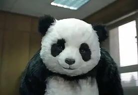 Какого цвета язык у панды