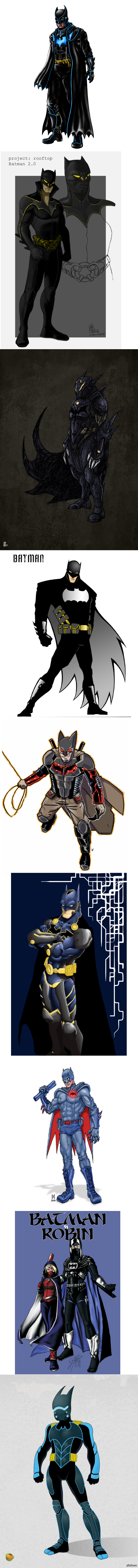 Бэтмэн, каким он мог бы быть Человек-Летучий Мыш. Много Человеков-Летучих Мышов. Очень длиннопост.