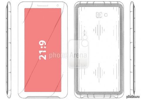 Отличная новость для любителей длиннопостов Samsung запатентовала телефон с соотношением сторон экрана 21:9