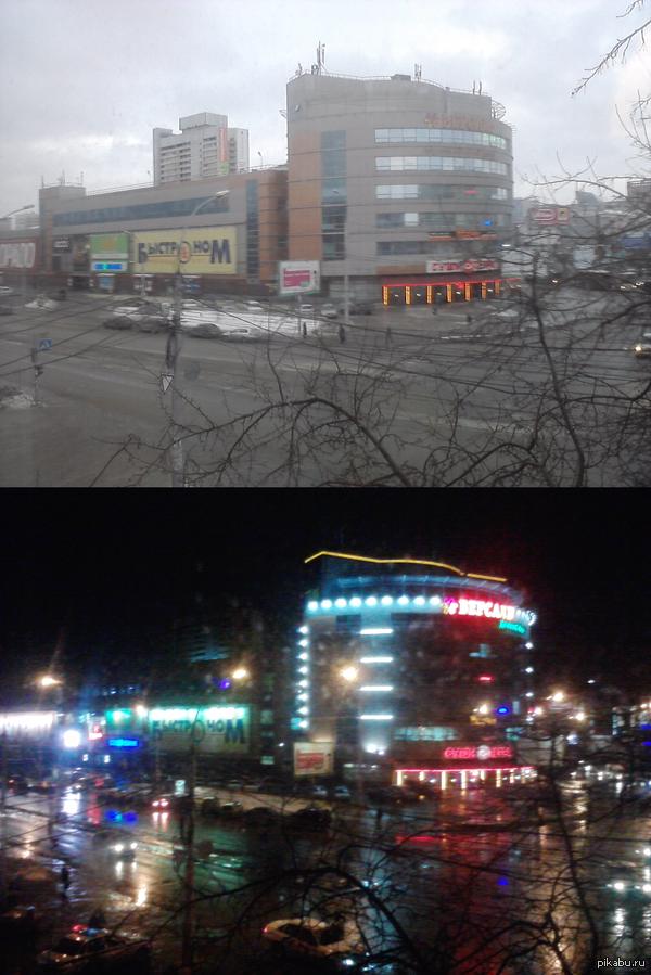Чтобы увидеть всю красоту Новосибирска нужно дождаться вечера.