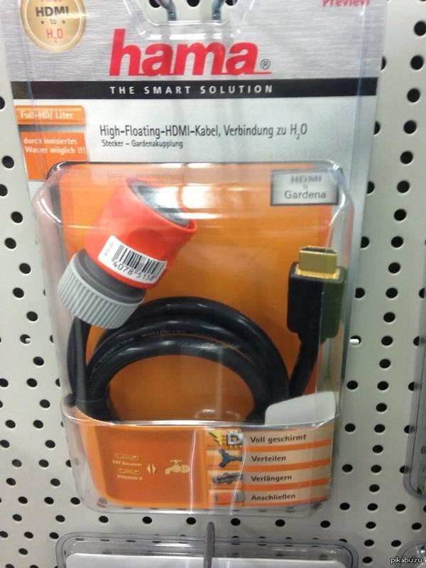 Переходник с HDMI на садовый шланг. На случай если вашей видеокарте захочется попить водички.