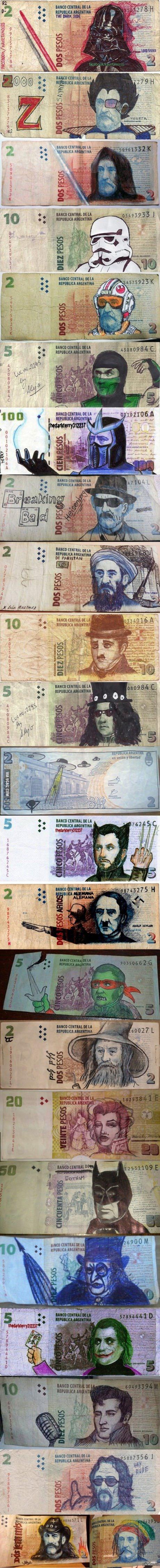 Искусство оно такое Как развлекаются в Аргентине со своей валютой