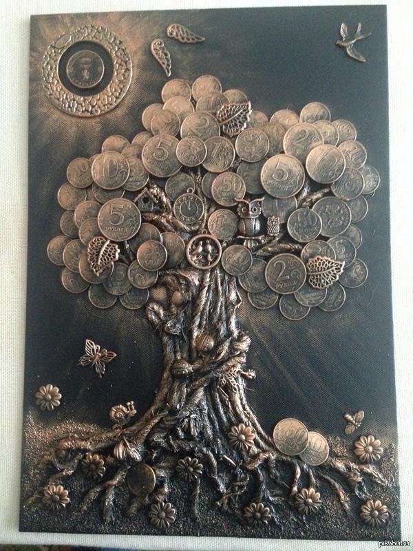 Денежное дерево Жена сделала своими руками ! Всем добра и денежек ;)