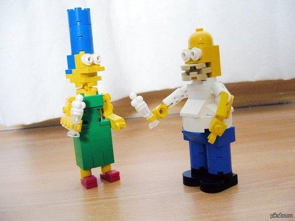 Симпсоны и лего. Боль,ужас,страдания.