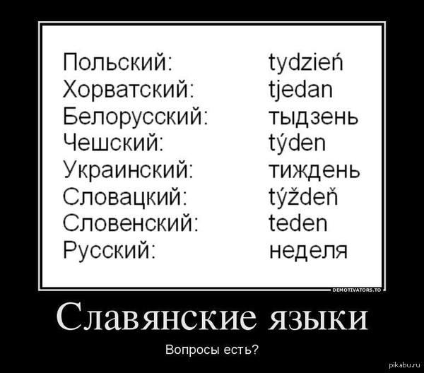Славянские языки. Никакой политоты и великих укров, просто прикольно :))