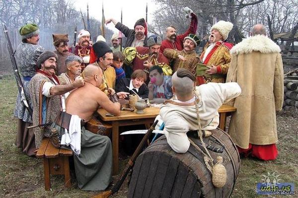 Zaharoid помогает казакам с письмом Письмо турецкому султану