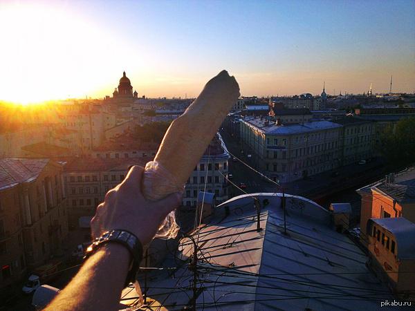 А почему бы и нет?  Покушал багет на крыше, любуясь красотами Петербурга :3