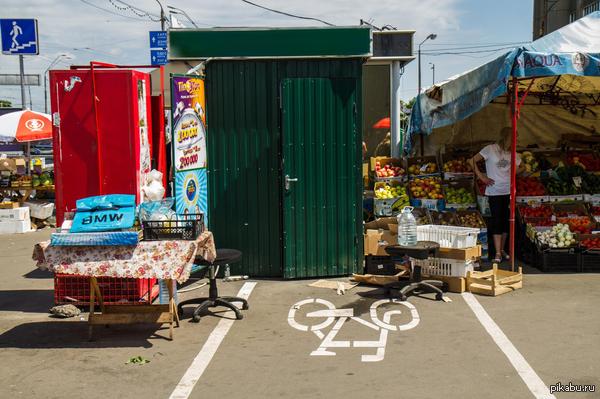 В моем городе появились велодорожки... Эта, судя по всему, ведет прямиком в Хогвартс.
