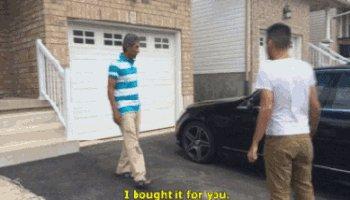 Сын подарил отцу машину