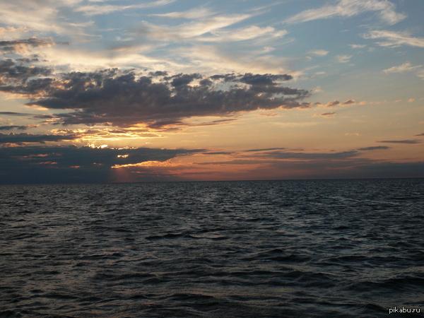 Битва закатов. Белое море, Северодвинск. Несколько старо, 2007год