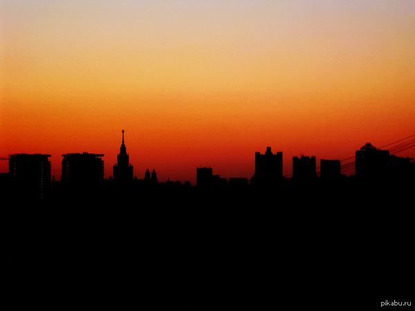Пятница, суббота - не важно. закат в любимом городе