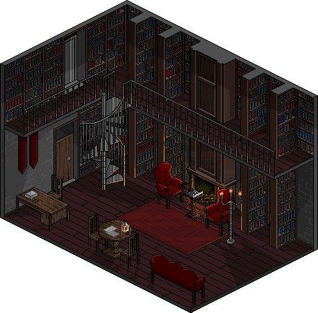 Библиотека в загородном поместье Pixel art