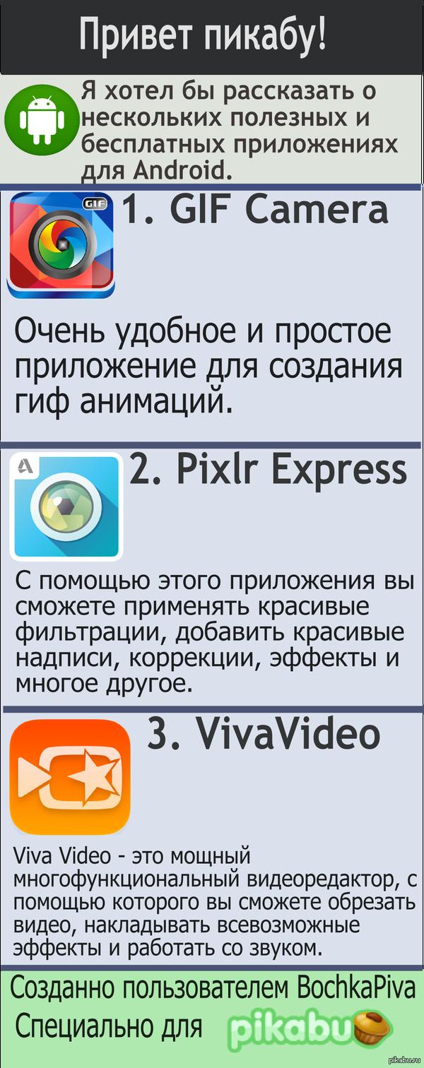 Полезные и бесплатные приложения для Android.