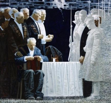 """Картина """"Последний салют"""" Игоря Кравцова ,по моему очень сильно. Берегите ветеранов."""