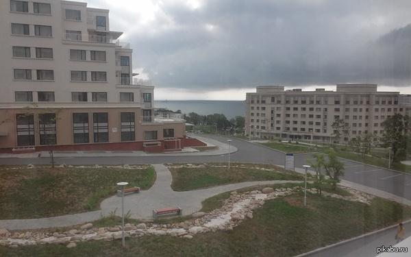 Вид из студенческого общежития Владивосток, о. Русский, кампус ДВФУ