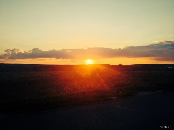 Россия. Республика Татарстан. Закат. Последние лучи тепла