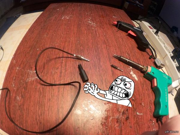 Рукожоп это.... ....когда работа сделана, но тут замечаешь что чего то не хватает.... надеюсь этому маленькому черному ублюдку хорошо на столе :C