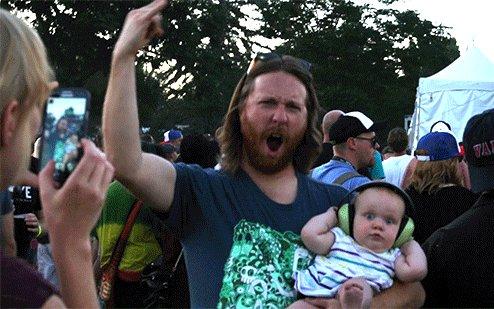 Когда твой папа любит рок!