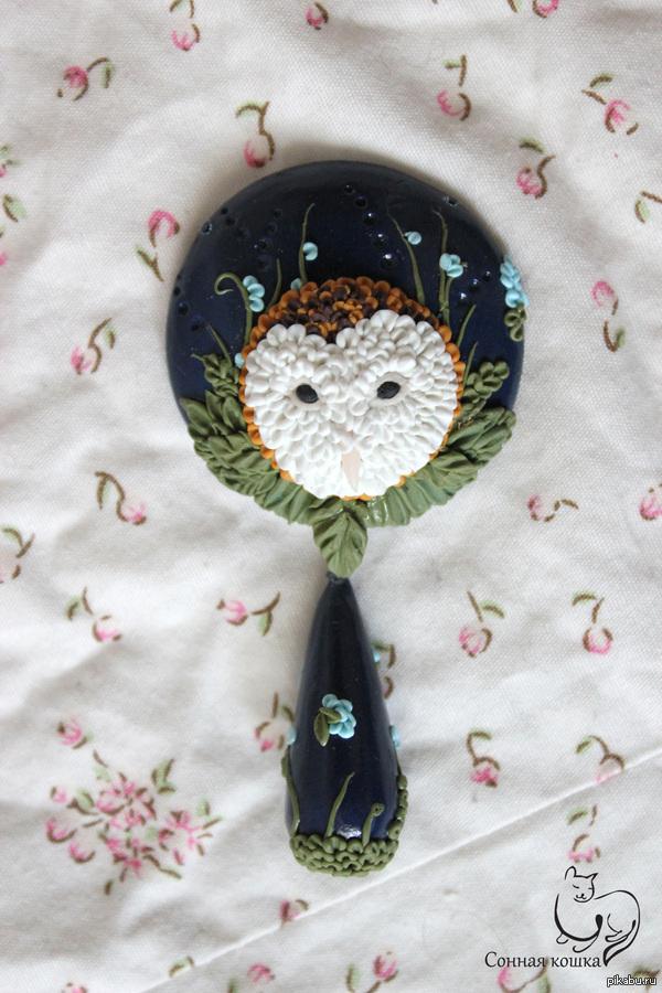 Подвеска сова сипуха сова в розах - это странно.а как вам такая сова?