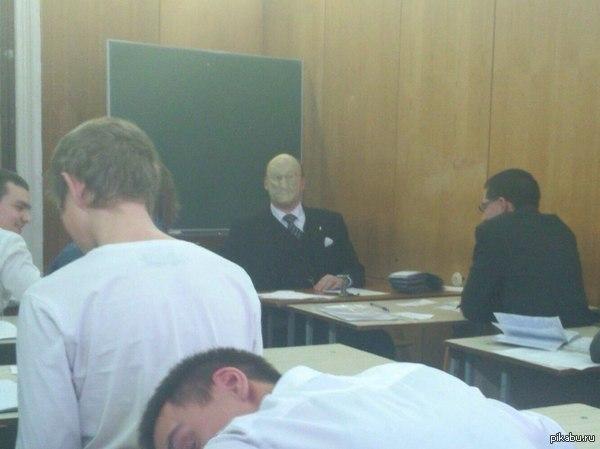 Вот так принимают экзамены преподаватели в моем ВУЗе
