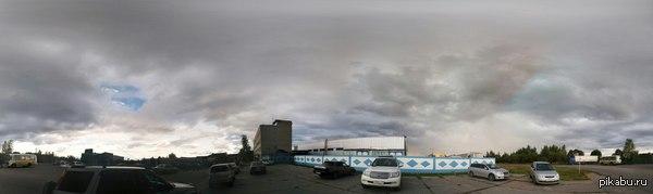 Предгрозовые облака Хабаровска, 18 сентября Мой первый пост решил начать с фотографии, сделано на Nexus 5 (опция Photosphere у стандартной камеры Google). Комменты для минусов