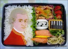 Классически музыкальное бенто ))))
