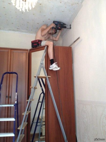 Раз пошла такая пьянка работаю монтажником натяжных потолков