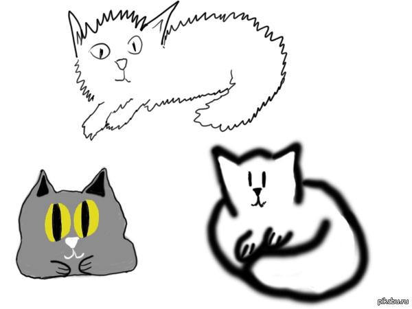 Котики Для одного конкурса нарисовал котиков