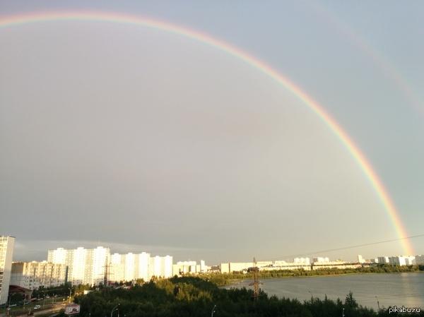 Если приглядеться, то можно увидеть двойную радугу Фото сделано на телефон, нравится как получилось=)