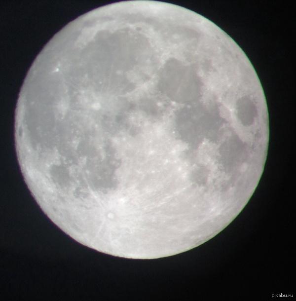 Луна сегодня 07/10/14 Фоткал через бинокль