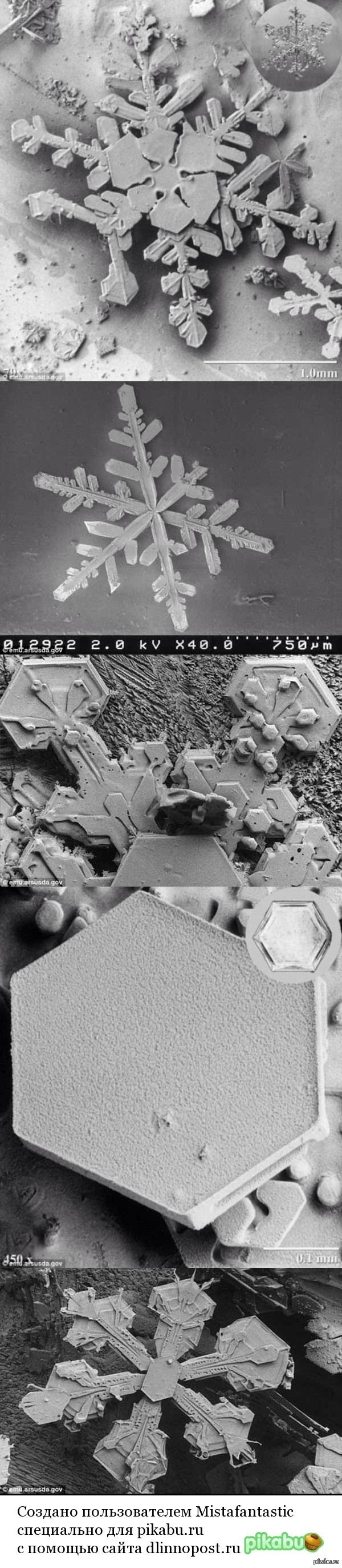 Безгранично идеальная природа. Снежинки под микроскопом ч.2