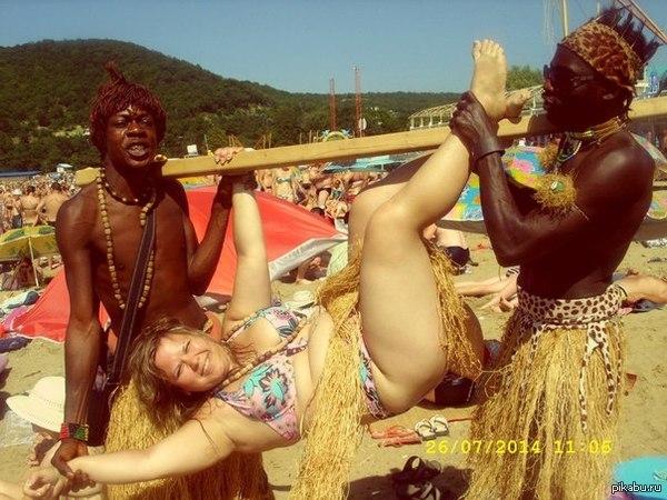 блондинка и два нигера