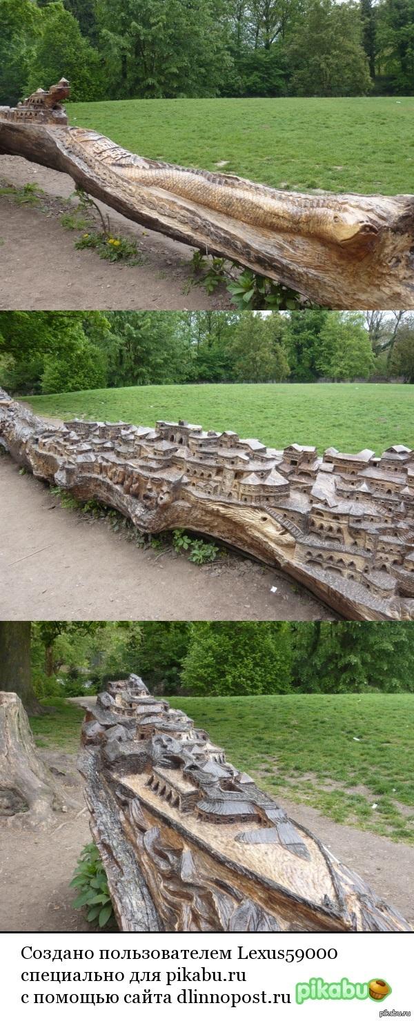 Резьба по дереву Место: Зоопарк города Lille, France  P. S. Дерево цельное. Внутри фотки высокого разрешения.