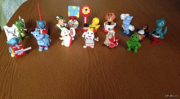 В свете постов про собирание игрушек из Киндера моя прелесть)) собрала за пару месяцев)