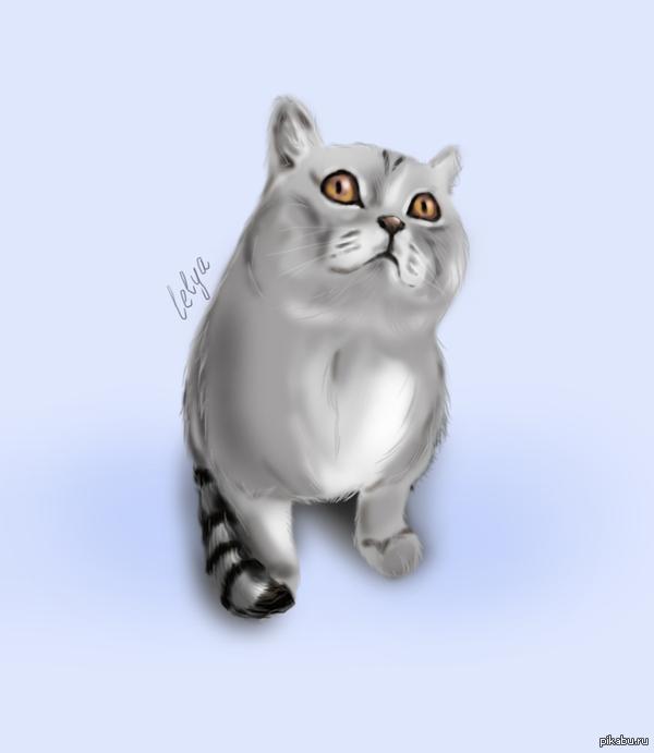 "Очень понравился кот Нарисовала кота из поста <a href=""http://pikabu.ru/story/kot_slomalsya_2775858"">http://pikabu.ru/story/_2775858</a>"