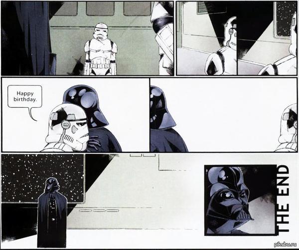 День Рождение Дарта Вайдера. Немного грустно от этого комикса.
