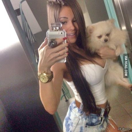 Собака выглядит так, будто у нее сегодня худший день в жизни Украдено с 9gag