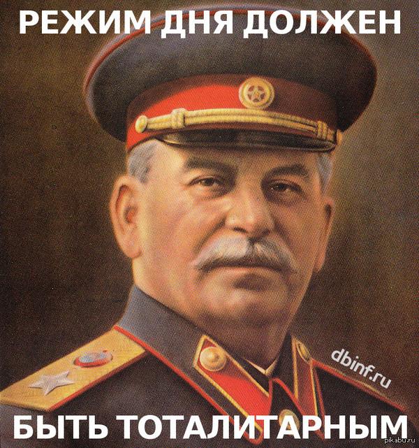 Режим дня должен быть тоталитарным