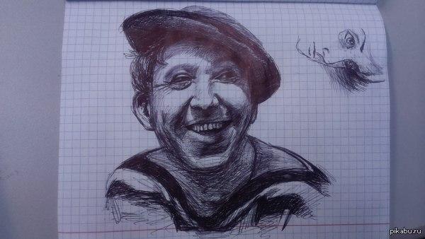 Юрий Никулин одногруппник нарисовал. Публикую с его разрешения