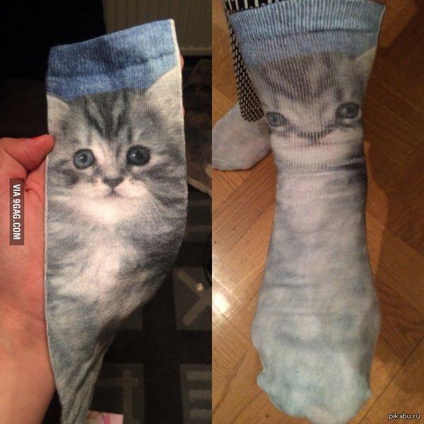 Мне так нравились новые носки! До того, как я их надел.