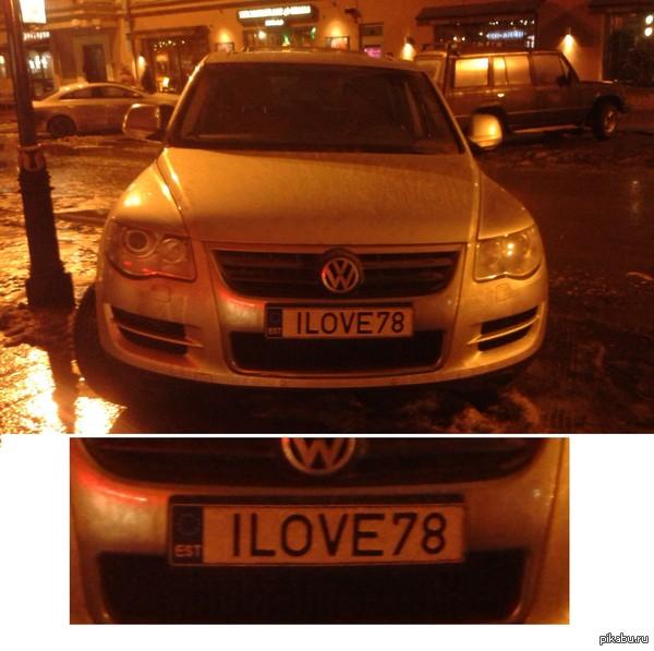 в Евросоюзе тоже любят Питер) Вот такого фольца встретила вечером 1-го января на Рубинштейна. 78 регион - Санкт-Петербург