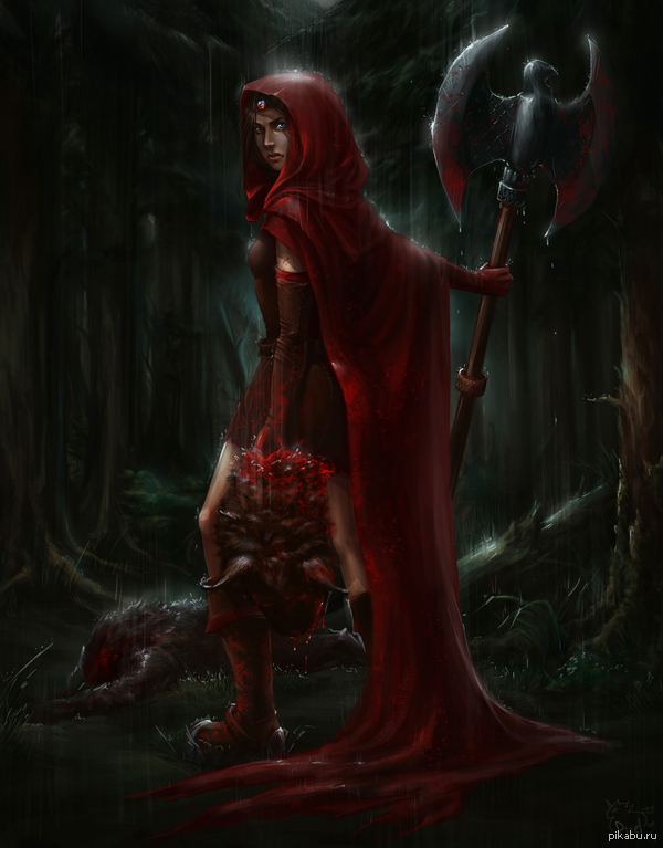 Мой фанарт по Fable: The Lost Chapters. Алая Роба, мать Героя. Думала, посвятить пост первому подписчику, а он взял и отписался... q_q