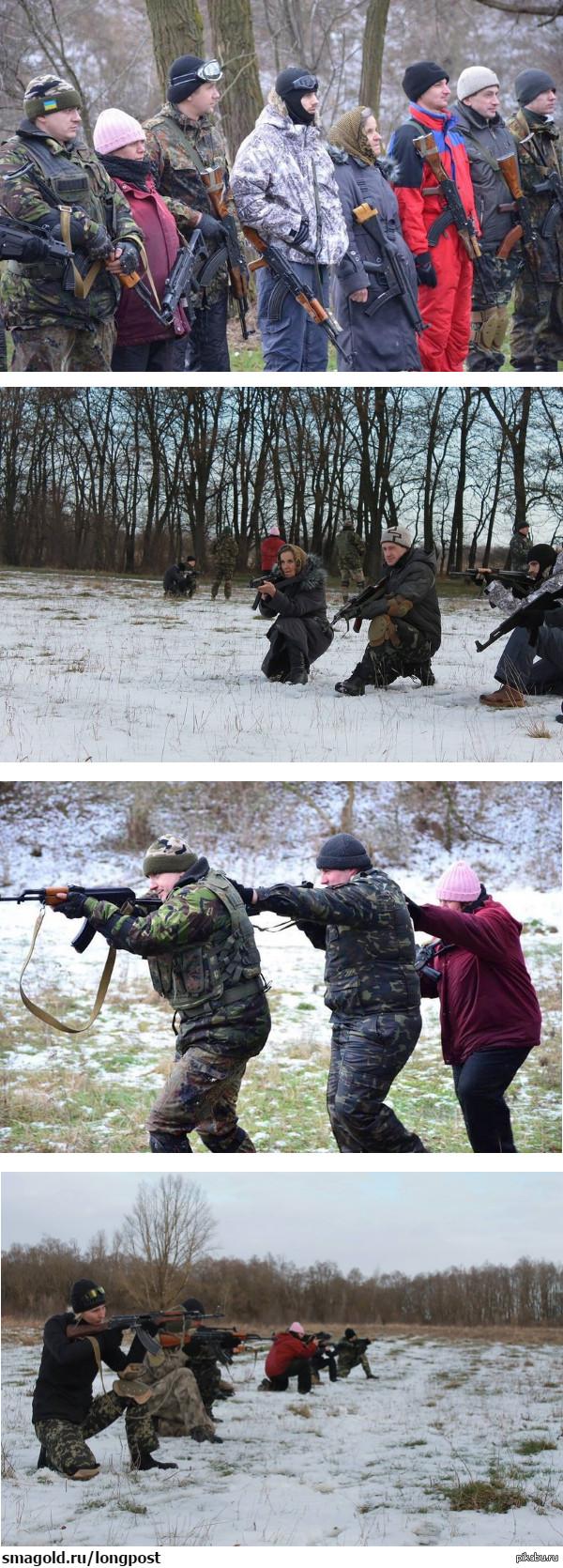 Очередная незалежная перемога. Пенсназ. Фото с военных курсов, проходивших в г. Жидачов Львовской области 10-11 января