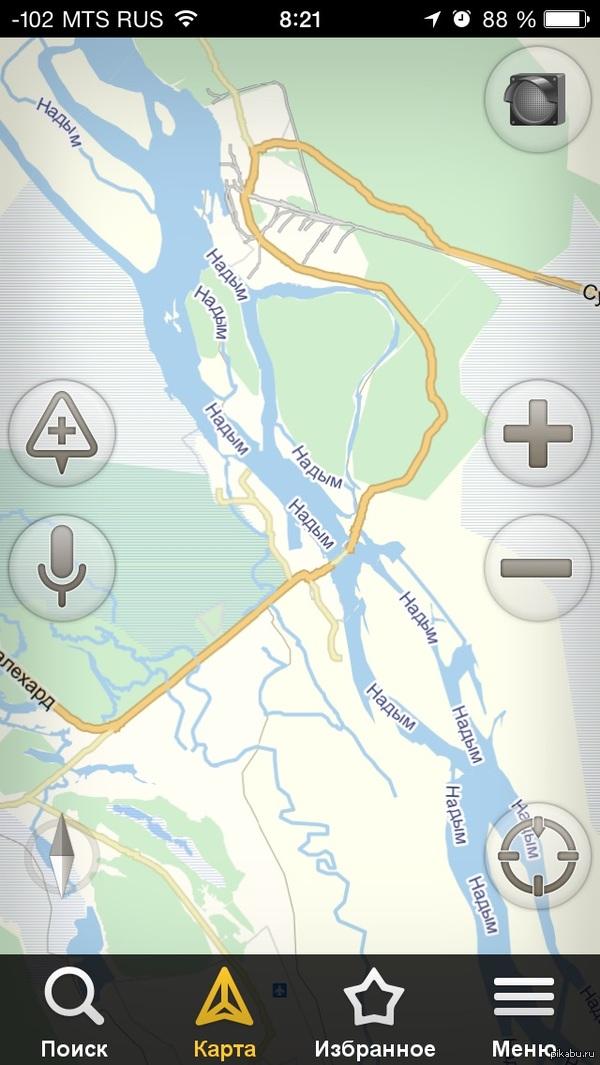 Как, говорите река называется? Яндекс навигатор чудит.